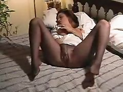 Masturbating in pantyhose