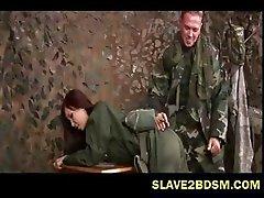 Bdsm on female army recruit