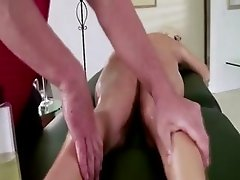 Pornstar babe receives hot massage and wants cock