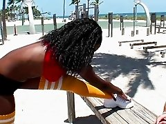 Sporting a black girl Gemini fucking on a beach