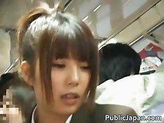 Asian babe has public sex jav part5