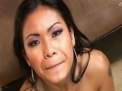 thai priva enjoys DP and sperm
