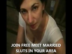 My wife giving blowjob to stranger she met online gets big load of cum to swallow