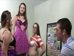 Hot babes coitus in their college room
