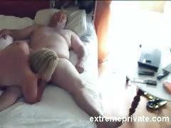Voyeuring Mom sucking cock neighbor