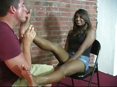 nice indian pria get her toe sucking