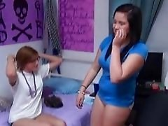 Five hot chicks in hard drunk lesbian party