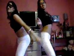 Two Latinas booty dancing. Control your dick guys...