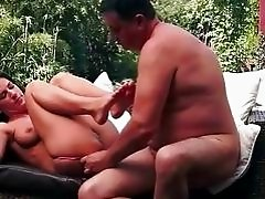 Teen enjoys sex with grandpa