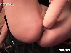 Blonde tramp taking cock and dildo in her hot cunt