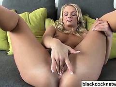 Emily Austin worships Mandingo cock