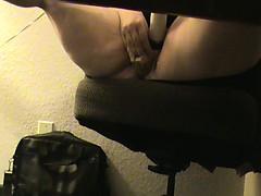 BBWMISSY masterbating under desk watching porn