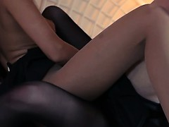 lovely blondie lets fuck by big strapon