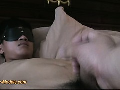 Blindfold Twink Boy Bound Cum