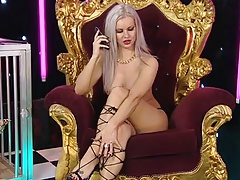 Charlene Hart on the RLC throne again in Strappy Heels