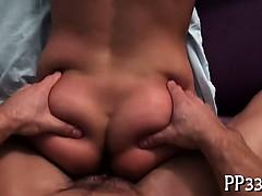 Pleasuring a giant male ramrod