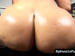 Big ass slut in stockings shows off