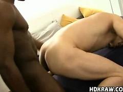 Black on White Gay Bareback Fucking