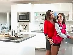 Attractive teen and her step mom boned
