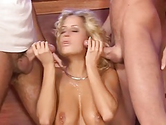 Curly haired euro blonde gets dped in a bar BB