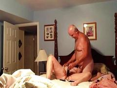 Amateur wife getting fucked with a dildo