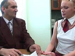 Horny mature teacher fucks naughty babe senseless