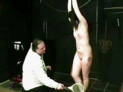 Teen slavegirl Lyarah tied and tormented to tears