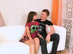 Sweetheart seduced into threesome sex