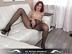 Ripped Stockings  Solo Anal and More