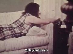 Cute Teen Talking to Her Lover (1960s Vintage)