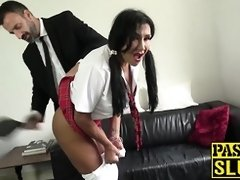 COUGAR college girl smacked and dicked before gobbling jizz