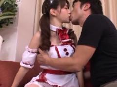 Sinful Rina Osawa gets her tiny snatch screwed