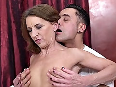 pretty gilf rides dick with the energy of a young girl