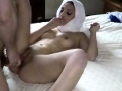 Sexy hijab arab fucked by American guy