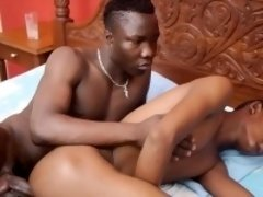 Amateur african guys barebacking each other