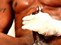 buff ebony hunk jerking big black cock