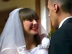 Groom bangs a couple of sluts after the wedding