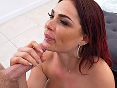 Beauty doll has a wild showering sex experience