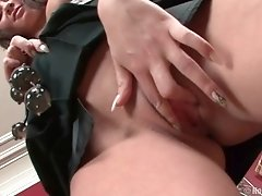 Dirty brunette chick fucked in all her holes