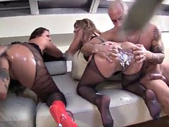 interracial anal cream fart orgy