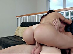 julianna vega bounces her ass while getting her pussy stuffed