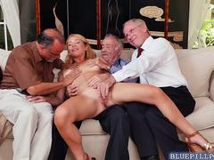 Raylin Ann exploited by three perverted old men