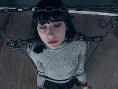 BDSM bondage gal Charlotte Sartre likes hard pain BDSM porn