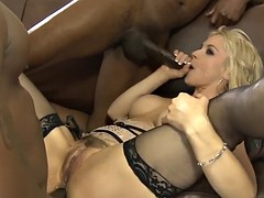 big boobs blonde dp by big black boners