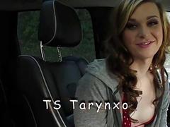 TS Tarynxo eats clit and fucks pussy