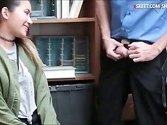 Jade Noir caught stealing and screwed by pervert LP officer