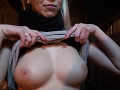 Blonde Czech babe gets pounded for money