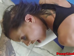 Bigtitted skank roughly fucked by maledom