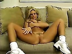 Fantastic POV lap dance with big tits blonde
