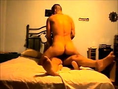 Wild amateur babe welcomes a throbbing cock in each hole